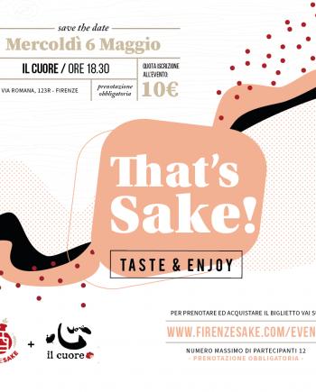 evento Firenze Sake - 6 Maggio 2020