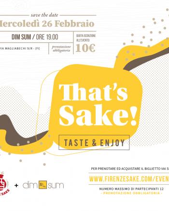 evento Firenze Sake - 26 Febbraio 2020