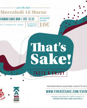 evento Firenze Sake - 18 Marzo 2020