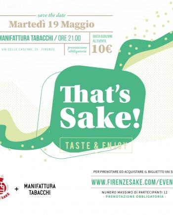 evento Firenze Sake - 19 Maggio 2020
