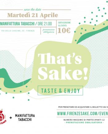 evento Firenze Sake - 21 Aprile 2020