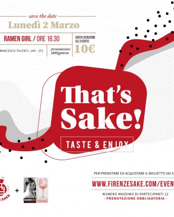evento Firenze Sake - 2 Marzo 2020