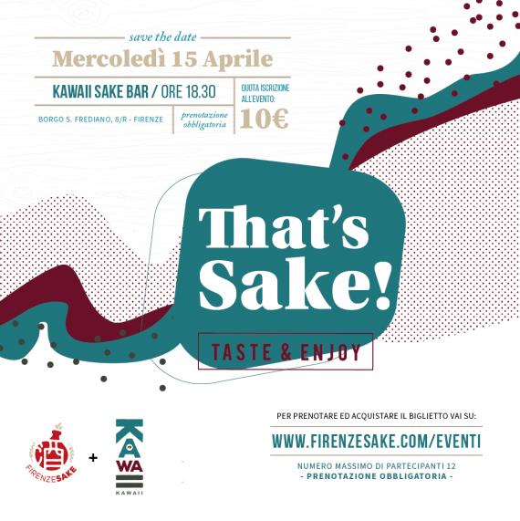 evento Firenze Sake - 15 Aprile 2020